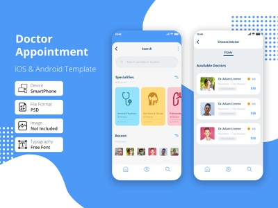 Doctor Appointment/ Consultation App android application treatment patient doctor appointment app design appointment medical illustration screen home app health appointment doctor app doctor multipurpose medical app hospital app doctor ios app doctor booking complete app doctor booking app