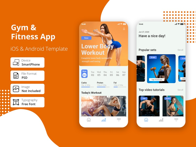 Gym & Fitness App agency kcal healthy design clean calories workout weight ux ui trainer strength running mobile gym graphics fitness exercise body app
