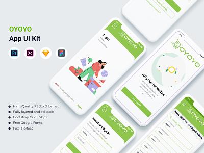 OYOYO- E commerce App UI Kit vector ux sell seller store grocery merchant application multipurpose e-commerce app ui branding illustration design ui