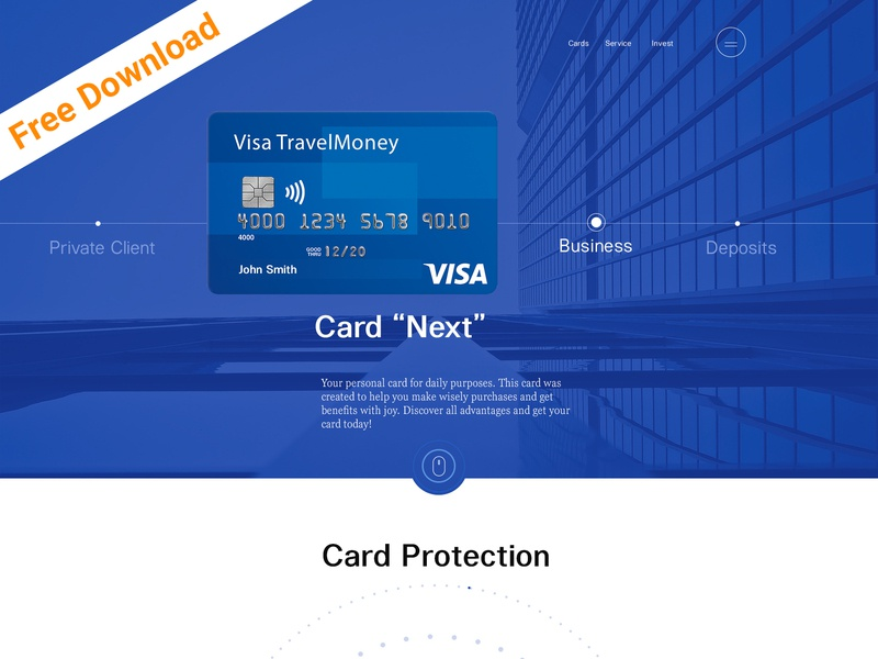 Credit Card Company and Online Banking Corporate PSD Template freebies free expert consulting consultants business agency advisor taxes tax help online banking investments insurance financial finance credit card company credit card corporate company accounting