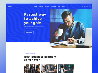 Nova-Business & Consulting website template for free.