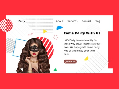 DJ, Dance, Disco Music Party Free psd Template download web ux ui bishal freepsd psds free psd freebies free multipurpose party website marketing party template night party dj party dj event dj club website club template party club