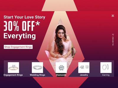 """""""Jewellery"""" Landing page Free psd Template download"""