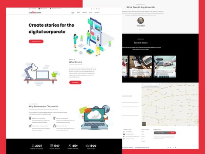 Extra - Software, Web App Company free psd template version-01