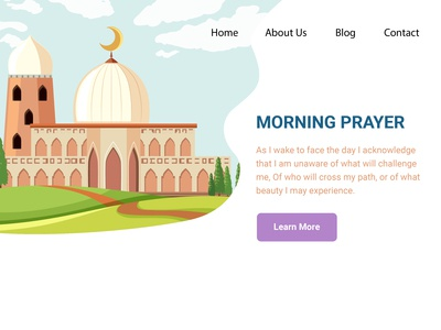 Morning Prayer Landing Page