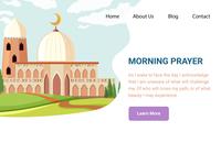 Morning Prayer Landing Page