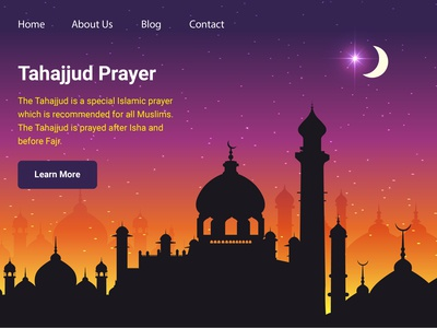 Tahajjud Prayer Landing Page Free Download