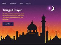 Tahajjud Prayer Landing Page Free Download