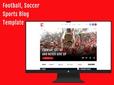 Football, Soccer Sports Blog Website Template