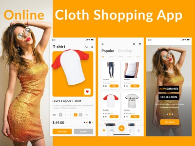 Online Cloth Shopping App | E-Commerce App Free Download colorful multipurpose agency ecommence e-commerce website money transfer payment app shop e-commerce design clothing brand clothing design shopping e-commerce shop e-commerce app ecommerce e-commerce ui bishal freebies free