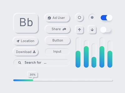 UI Elements trendy design trendy trend design 2020 2020 trend neumorphic ui free freebies ux
