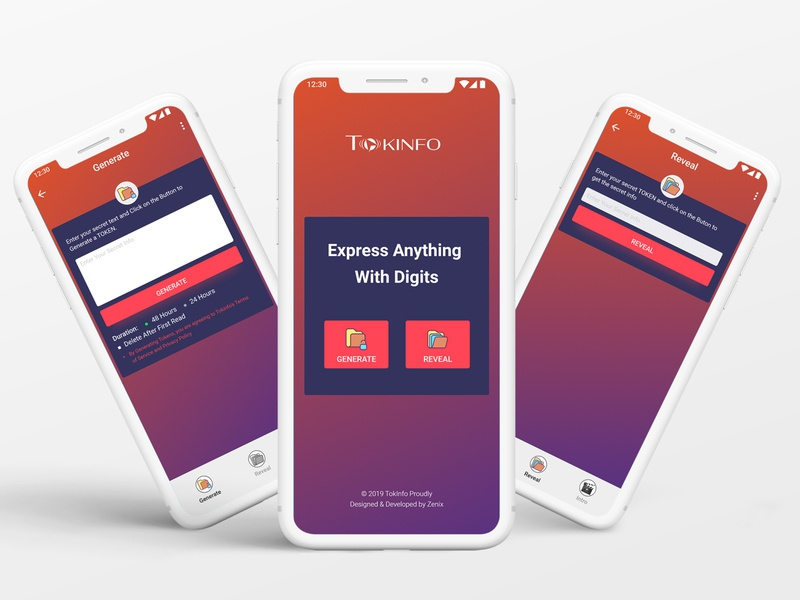 TOKINFO appstore agency web multipurpose sms token apple design ux ui app design application message data apps