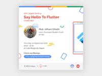 Say Hello to Flutter (Event Poster)