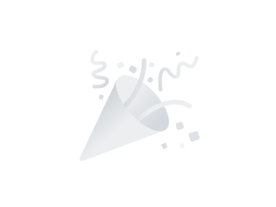 Ta dah! ta-dah monochrome fanfare emoji illustration