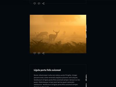 Dark Horse, Tumblr Theme (WIP) minimalist dark flat outline theme tumblr blog article post wip