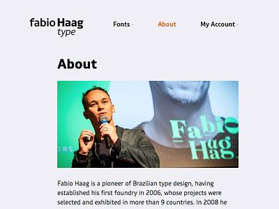 Fabio Haag Type, website freebie free font portfolio website designer foundry type design typography