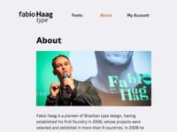 Fabio Haag Type, website