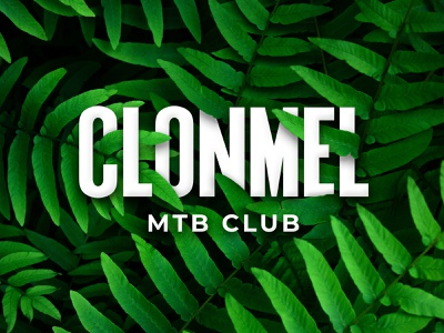Clonmel MTB Club artwork mountain bike bike club green leaves foliage lettering logo