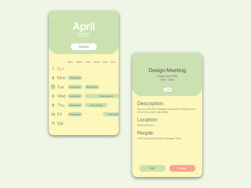 Scheduler Apps UI