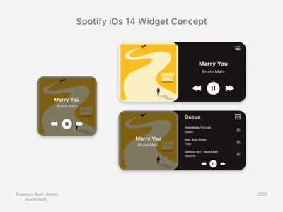 Spotify iOs 14 Widget Concept widgets uiuxdesign uxdesign uidesign uiux ios ios14 ux ui design