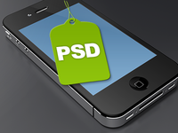 Iphone4 Template PSD