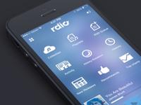 Rdio ios7 seven ui ios7 redesign app fun practise