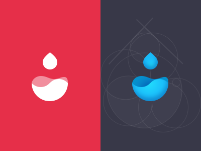 Waterdrop Logo seven logo water drop process