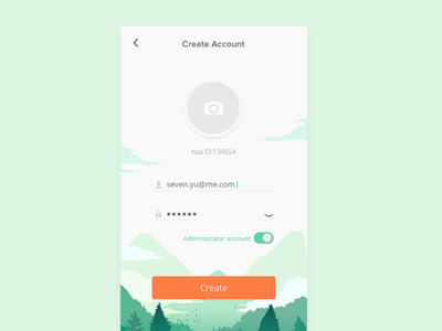 Create account concept