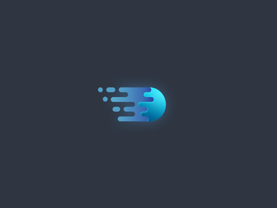 Fluid Wing icon logo seven fluid