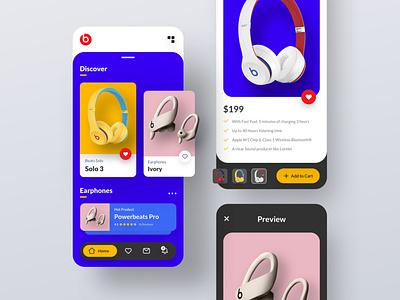 Ecommerce App explore color beats by dre ecommerce app ecommerce mobile ui mobile application app ui