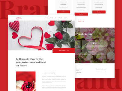 Couple Site | Romantic Services Page Concept