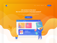 Exploration company landing page