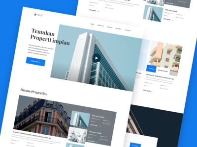 Apartment web design concept