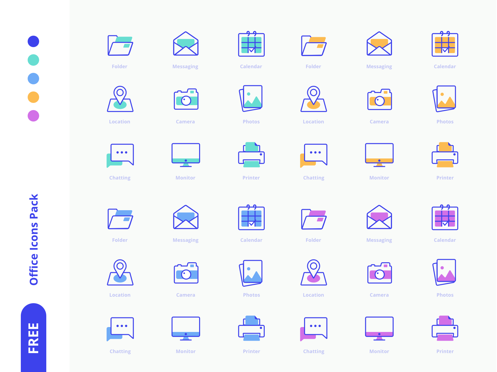 Freebies Office Icons Pack icons set icons trending free app mark letter branding vector sketch svg icon freebie free
