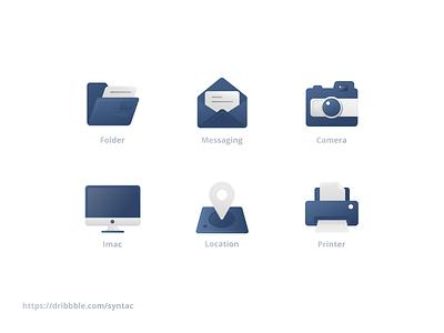 Icons - style Exploration gradient design color letter app icons types set mark idenitity explore illustration ui trending branding