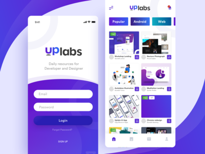 Uplabs app redesign concept