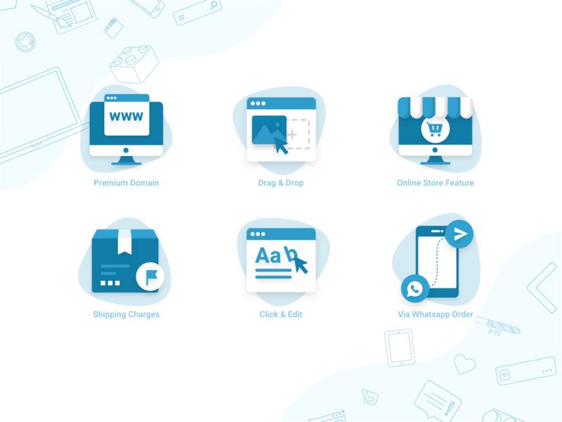 Product Icons   Guicon Medium hosting template eccomerce icons svg vector icons set web flat illustration explore landing icon logo sketch minimal color design ui trending branding