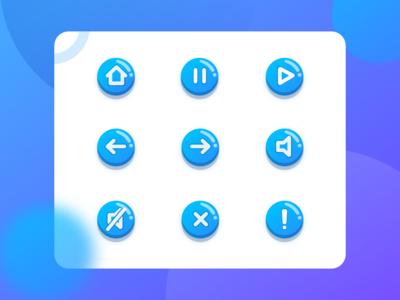 Navigation icons | Guicon Gradient