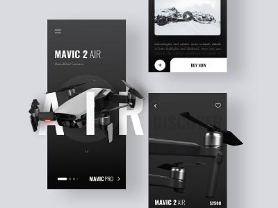 Drone App minimal explore interace simple design elegant design shop app ecommence flight app drone design branding ui app  design app trending