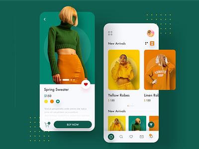 E-commarce Fashion App minimal landing color ux ecommerce app shop design shop app fashion fashion app explore design ui trending branding app animation app  design app