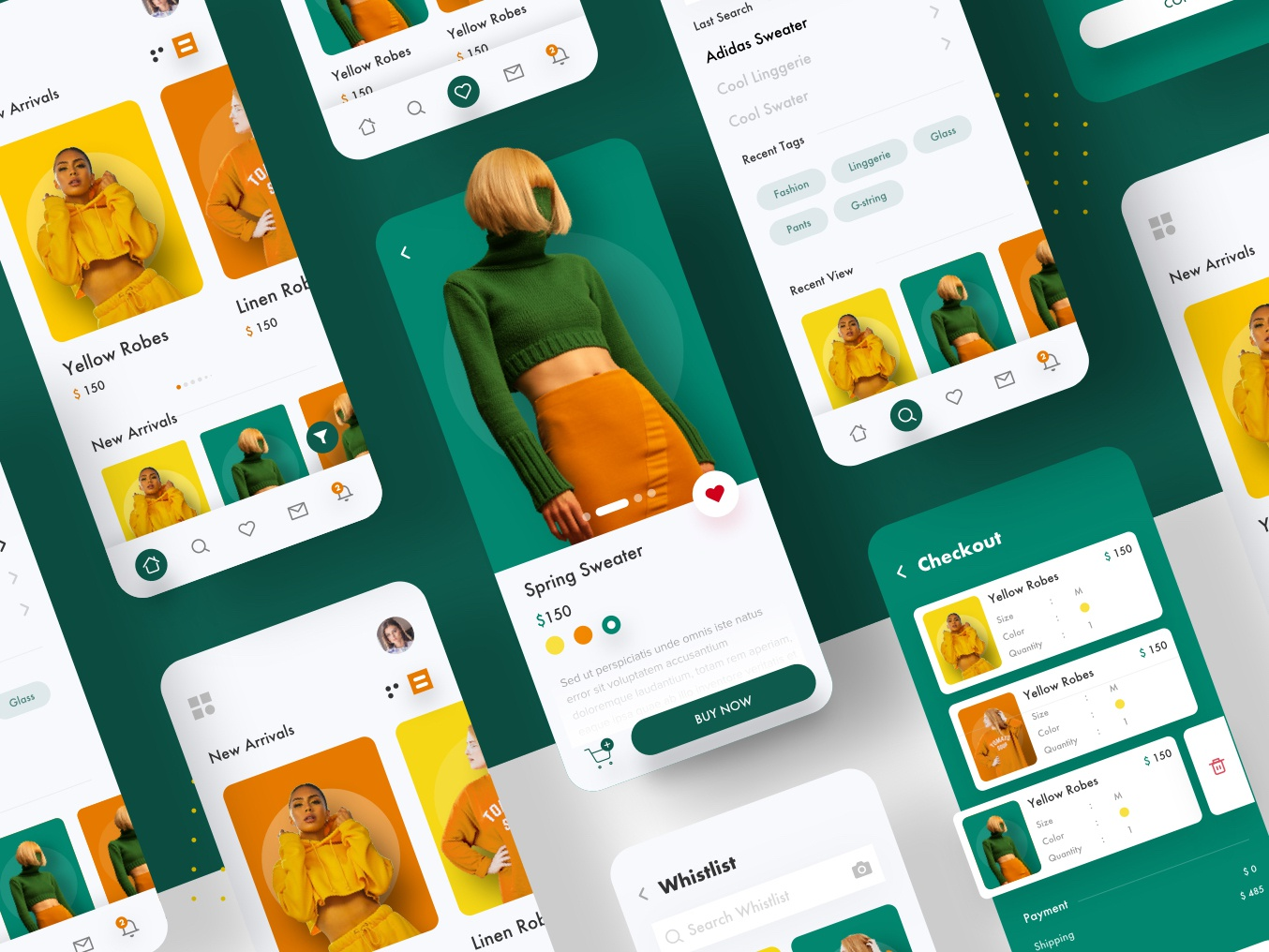 E-commarce Fashion App Collection minimalist sketch color landing trend 2019 guicon shop design shop app fashion fashion app e-commerce design app  design app minimal ux explore ui trending branding