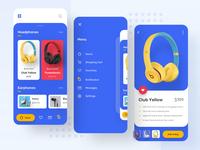 Headphone Store Exploration application e-commerce headphone apps ui color noansa ui explore app design trending
