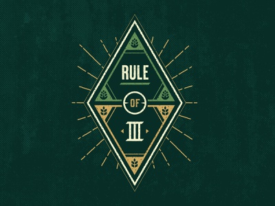 Rule of 3 illustration brewery art direction vector design packaging ipa beer