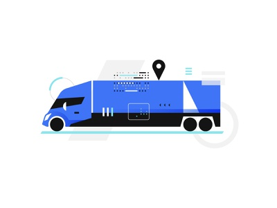 Shipping Intelligence truck semi killervisualstrategies illustration vector