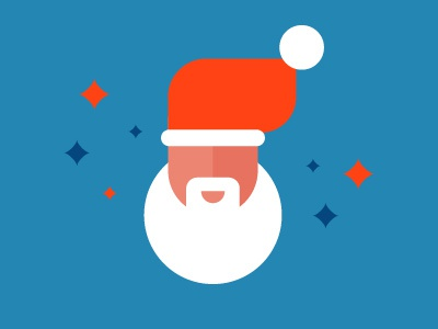 Santa  santa holiday christmas magic vector character geometric