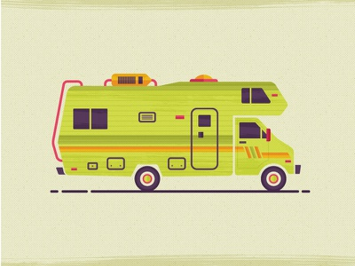 RV Adventures killerinfographics vector illustration crosscountry roadtrip rv