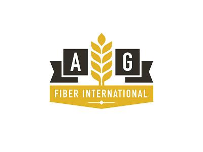 AG Fiber International fiber vector wheat branding logo