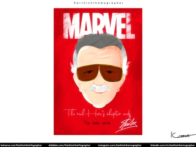 Stanlee - The Real Superhero rip stanlee designing design of the day character design design illustration vector