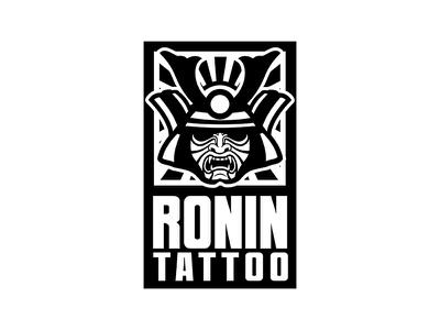 Ronin Tattoo japanese japan samurai ronin tattoostudio tattoos tattoo wintrygrey graphicdesign design logodesign logo