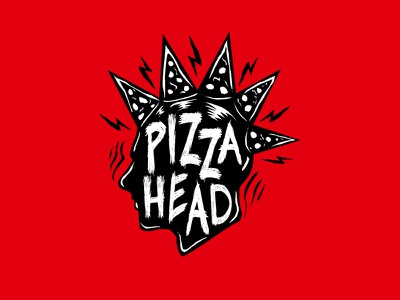 Pizza Head rock punk art urban food pizzahead logo pizza